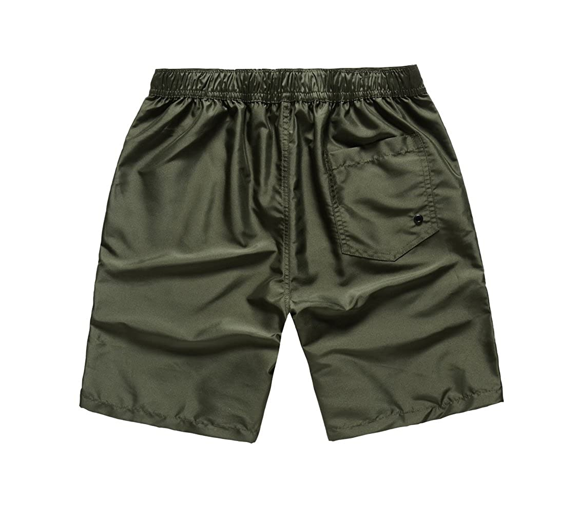 ef3c0c2a20 MADHERO Men Board Shorts No Mesh Swim Trunk Zipper Pockets Swimwear |  Amazon.com