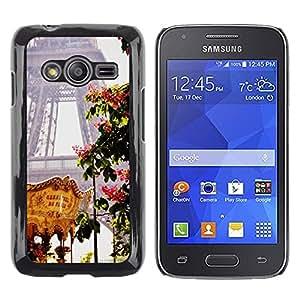 TopCaseStore / la caja del caucho duro de la cubierta de protección de la piel - Eifel Tower Spring Fair France - Samsung Galaxy Ace 4 G313 SM-G313F
