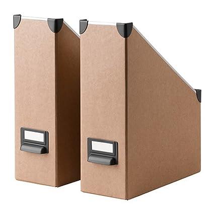 Ikea Fjalla revistero archivador beige 2 unidades