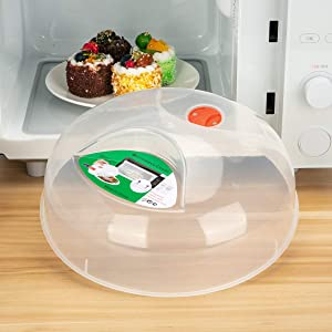 Microwave Plate Cover,Microwave cover for food 11.5 Inch BPA Free Dishwasher Safe