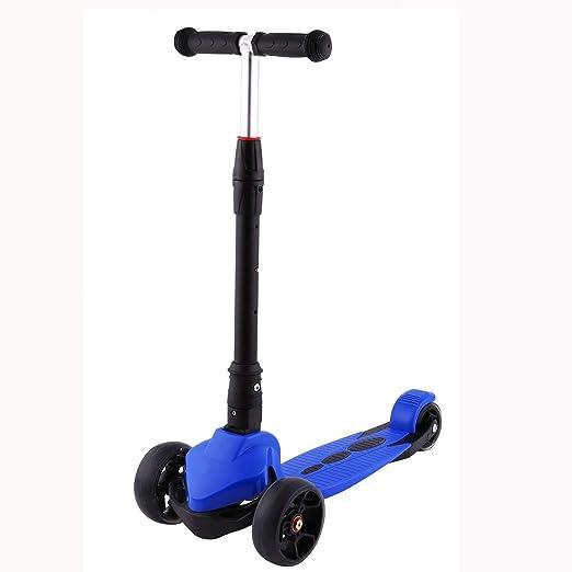 JIN Scooter para niños 3 Ruedas Patinete Plegable Scooter ...