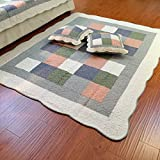 cotton Thicken Floor lounger cover For Living room,Bedroom Tatami floor mat Floor mattress Anti-slipping mats Baby crawling mat-A 160x210cm(63x83inch)