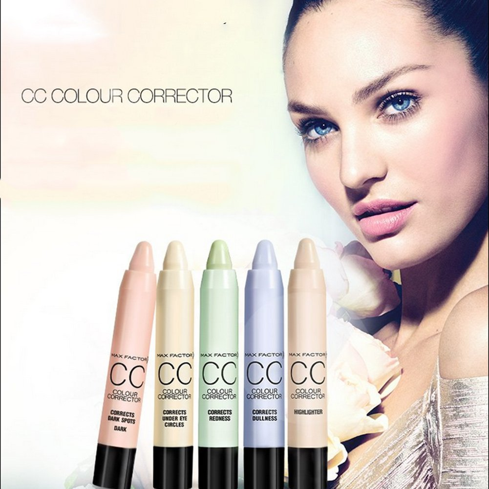 Concealer Stick, Molie CC Color Corrector Face Foundation Creamy Camouflage Concealer Pen #2 Corrects Redness