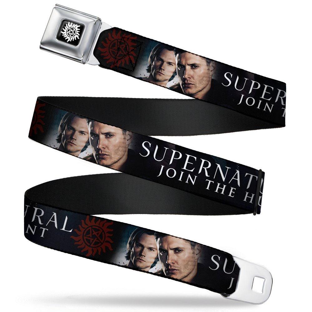 Supernatural TV Show Winchester's Anti-Possession Seatbelt Belt Buckle Down SNA-WSN003