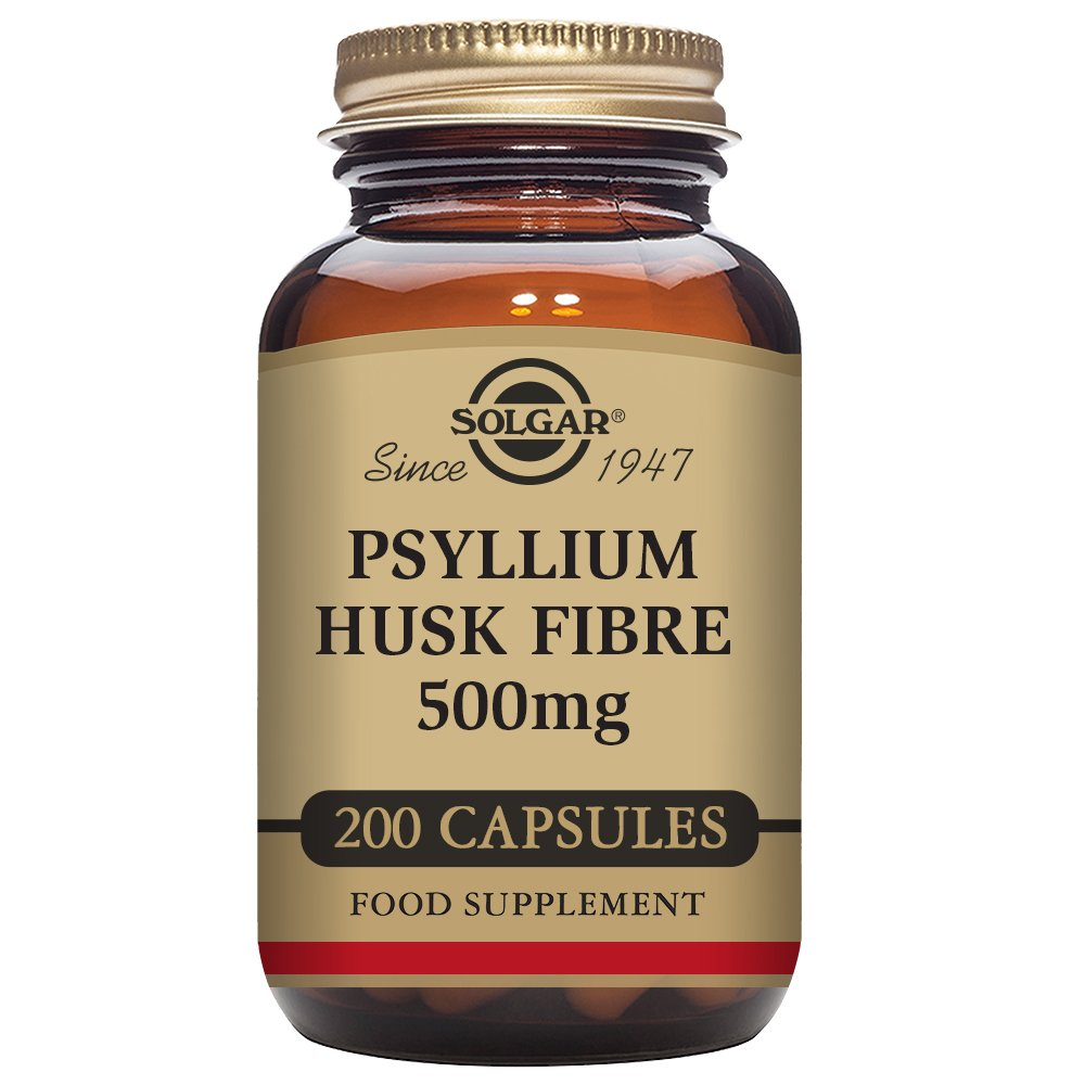 Solgar - Psyllium Husks Fiber 500 mg, 200 Vegetable Capsules