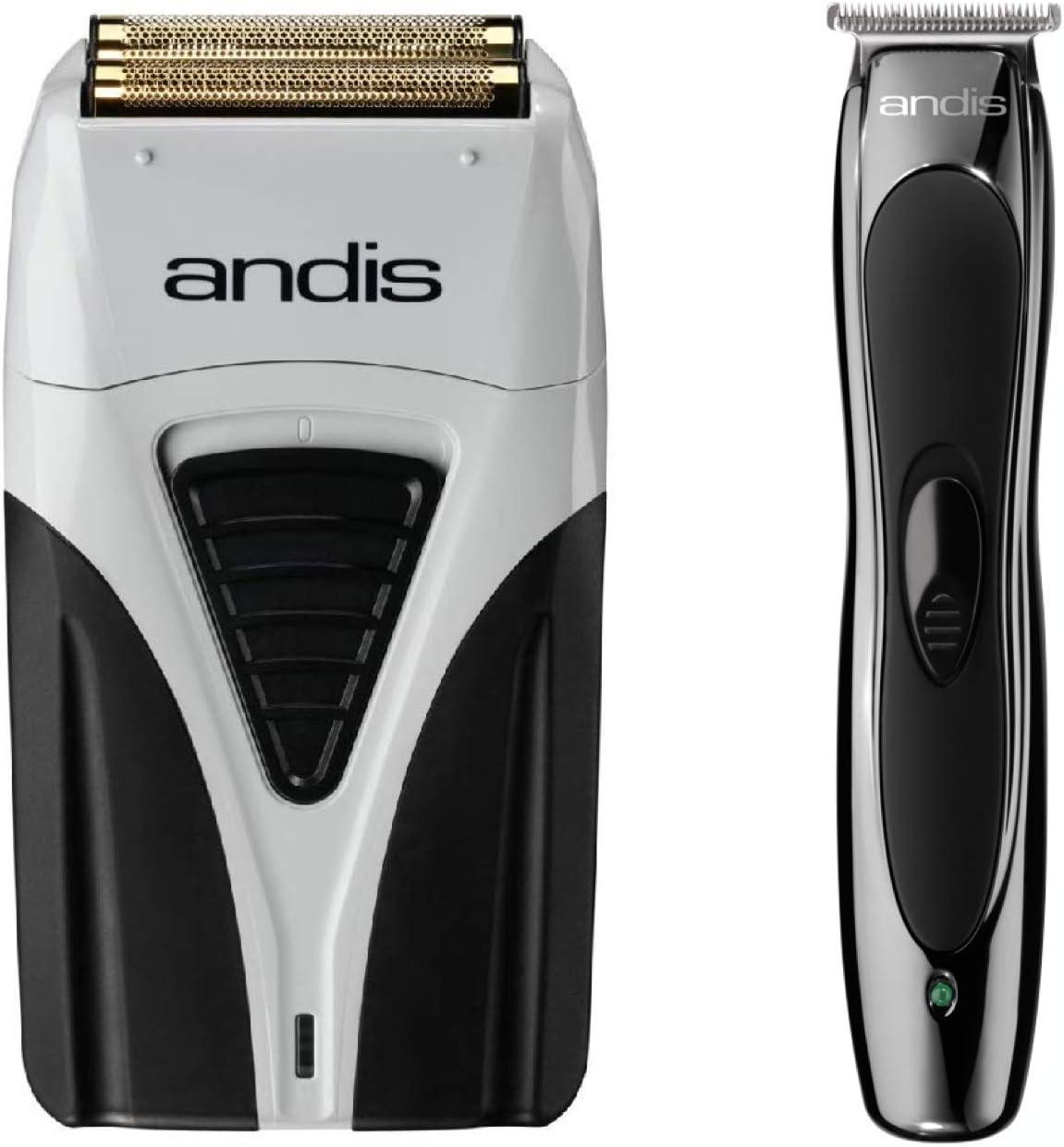 Andis 17200 Profoil Lithium Plus - Máquina de afeitar de láminas de titanio, cable/inalámbrico y Andis Litio Slimline ion Combo recortadora inalámbrica: Amazon.es: Belleza