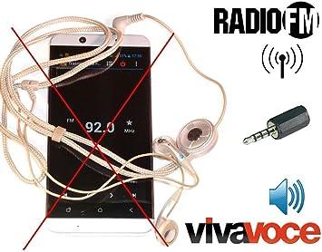 antjack antena FM Radio simulador de oído para Smartphone 3,5 mm