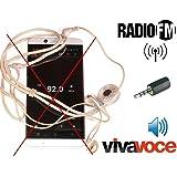 AntJack antenna radio FM simulatore cuffiette per Smartphone 3,5mm colore NERO