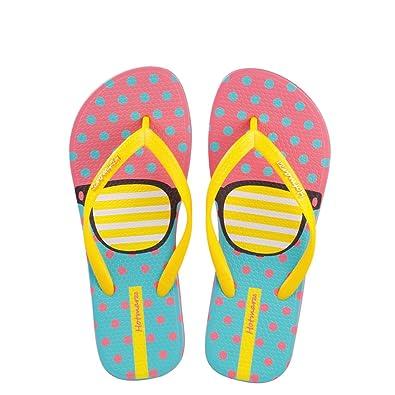 Hotmarzz Damen Zehentrenner Mode Niedlich Brille Hausschuhe Flach Rutschen Sommer Strand Schlafzimmer Spa Dusche Zuhause Schuhe Size 39 EU/40 CN, Gelb