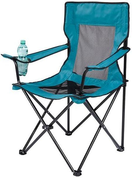 Crivit Silla plegable de camping con reposabrazos y soporte ...