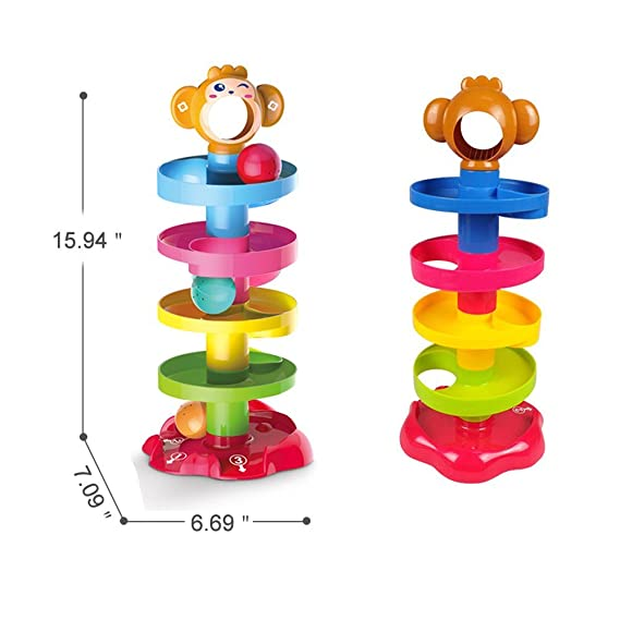 Jack Royal Roll n Swirl Ball Ramp Drop Toys - Color May Vary as per The Availability of Stock