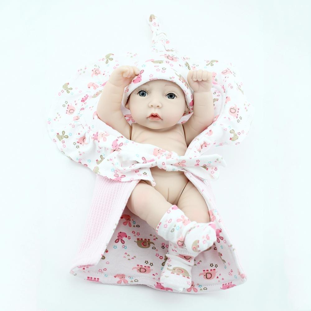 Haixin Reborn muñeca suave silicona realidad de muñeca de Reborn bebé bebé realmente parece una muñeca de bebé recién nacido