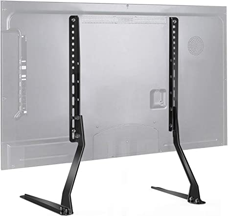 Amazon Com Perlesmith Universal Table Top Tv Stand For 37 70 Inch Flat Screen Lcd Tvs Premium Height Adjustable Leg Base Stand Holds Up To 110lbs Vesa Up To 800x400mm Pstvs01 1 Electronics