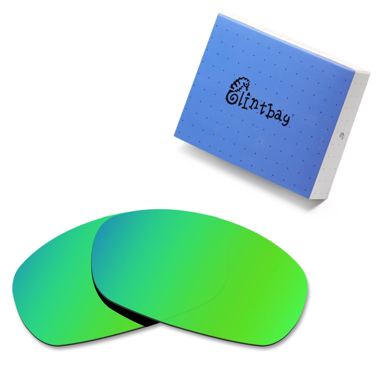 Glintbay 100% Precise-Fit Replacement Sunglass Lenses for Costa Del Mar Brine - Polarized Green Mirror