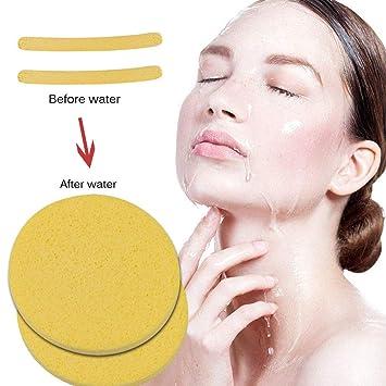 Amazon.com : Women Beauty Compressed Sponge Puff Flawless Face sponge Makeup Blender Leaning : Beauty