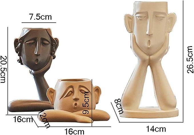 16 26.5cm FANJIANI 7.5 8 20.5cm 14 9.5cm 12 Sculpture Creative Table Basse D/écoration Moderne Minimaliste Salon Porche Armoire /À Vin TV Cabinet D/écoration De La Chambre 16