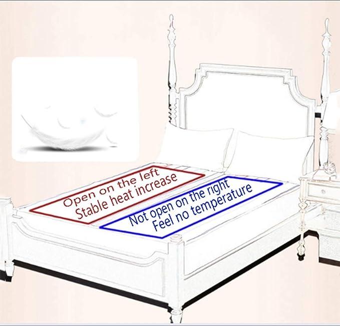 WE&ZHE Manta eléctrica de colchón calefactado, 220 V, termostática, de Seguridad, para Cama, Calentador, alfombras: Amazon.es: Hogar