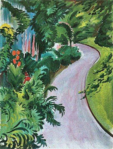 The Museum Outlet - Path in the garden by August Macke - Canvas (24 x 18 Inch) (Macke Garden)