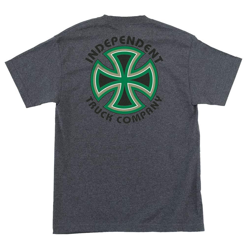 Independent Trucks Bauhaus Cross Men's Short Sleeve T-Shirt - Charcoal Heather - XL