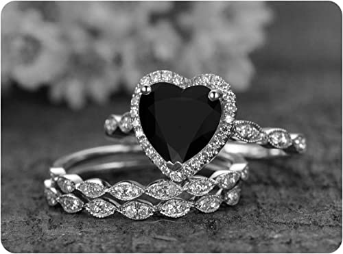 Brand New Silver Valentines Heart Shaped Phone Bling Ring