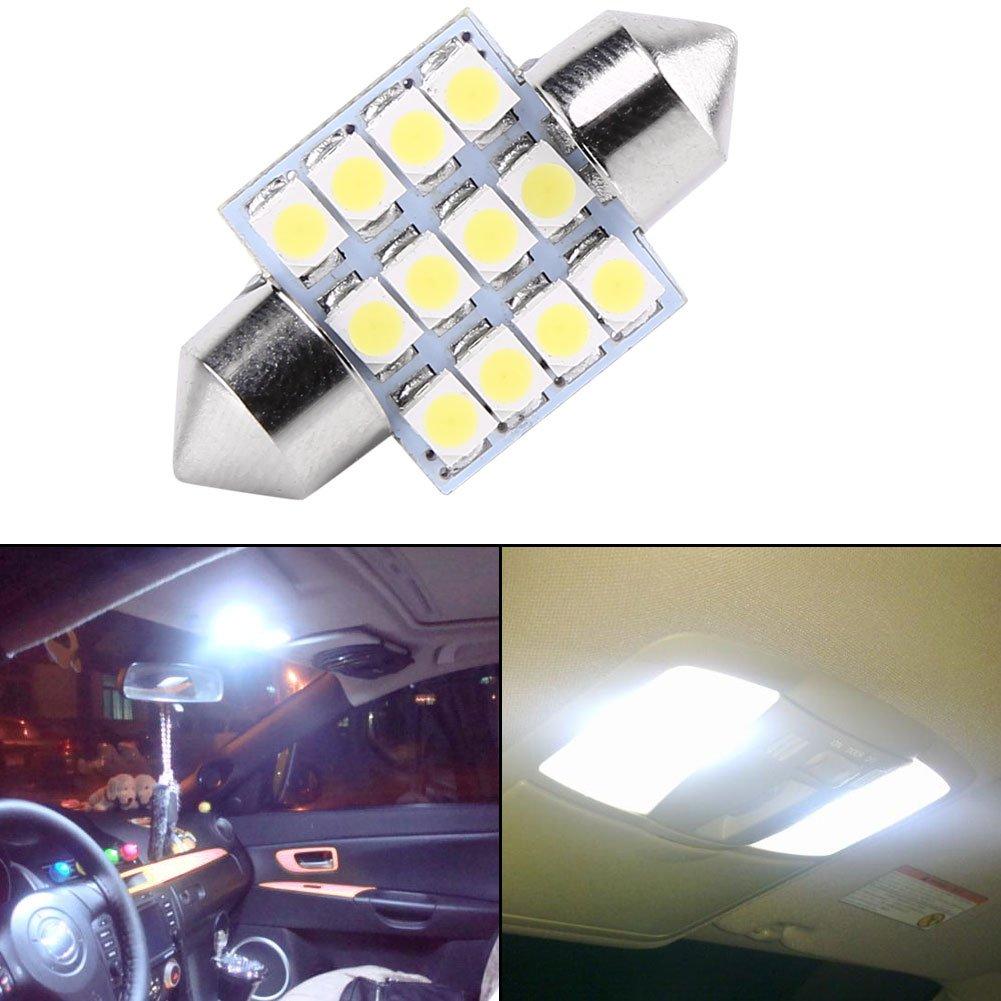 Luz de b/óveda de coche Luz interior de la puerta de la l/ámpara del coche de 2PCS 12V 12 SMD LED