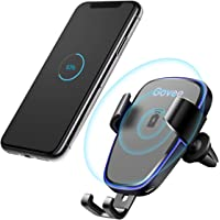 Govee Wireless Car Charger Govee Fast Charging Car Mount Kit Qi Gravity Vent Phone Holder