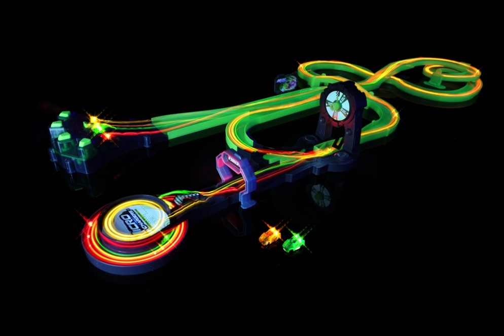 Glow In The Dark Race Track And Car