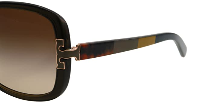 a0f0701ce09e Amazon.com: Tory Burch Sunglasses - TY7022 / Frame: Olive Block Lens: Brown  Gradient: Tory Burch: Clothing