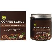 Exfoliante de 250 ml de café, crema exfoliante corporal, eliminación de la piel del cuerpo facial, limpieza profunda, blanqueamiento de la piel.