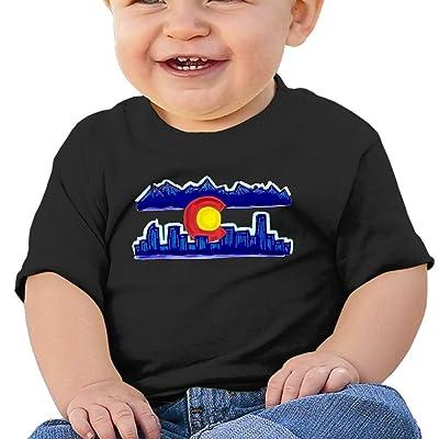 Nurlvns Colorado Skyline Toddler/Infant Short Sleeve Cotton T Shirts Black