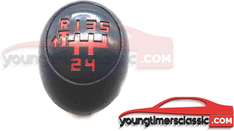 Pommeau pastilles 5 Vitesses Grille Rouge BE1 youngtimersclassic Pommeau Peugeot 205 Tous mod/èle aux Choix