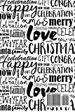 Christmas Card Address Book: Word Art Recorder, Organizer, Notebook, Planner | Keep Track Of The Cards You Send & Receive | Greetings Card List | ... Records | Small (Season Holiday) (Volume 15)