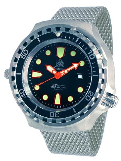 alemán automática Diver reloj de Tauchmeister 1000 M sapphireglass t0264-mil