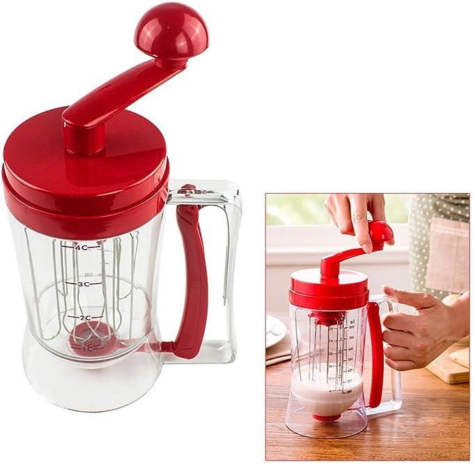 kangOnline Stainless Steel Donut Cupcake Batter Dispenser Funnel Pancake Maker Helper Rack Spring-loaded Handle