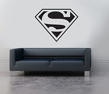 Superman Logo Emblème Shield Symbol Art Mural En Vinyle