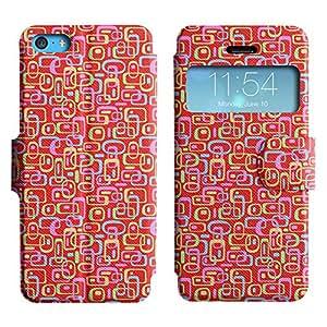LEOCASE patrón de la caja Funda Carcasa Cuero Tapa Case Para Apple iPhone 5C No.1004214