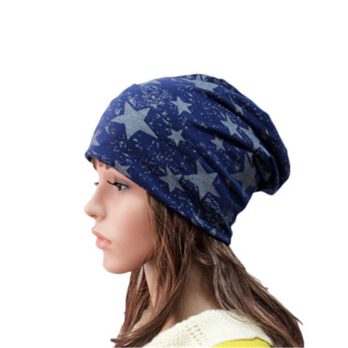 Women's Cotton Beanie Cap Thin Hip-hop Star Hat 39 TYJ2017122801N-O