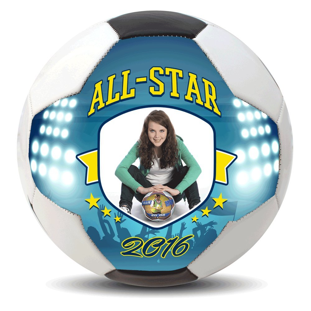 Amazoncom Custom Photo Regulation Size 5 Soccer Ball