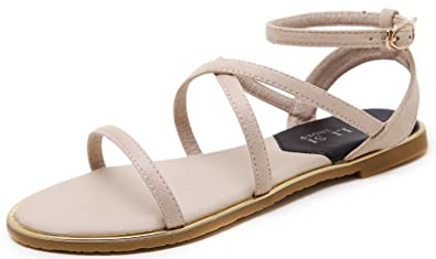 1daeda0fa6f5 DolphinBanana Women Gladiators Summer Flat Sandals