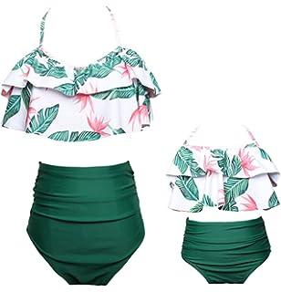 bcf3f69715 Harri Baby Girls Bikini Swimsuit Set Family Matching Mother Girl Swimwear  Beachwear