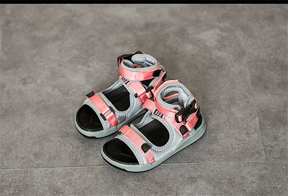 IINFINE Flower Leather Sandals Kids Girls Open Toe Flat Strap Sandal