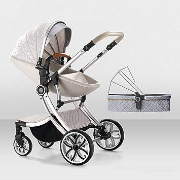 GAOYY Sillas De Paseo Paisaje Alto Plegable Cochecitos por Cochecitos Niños 2 En 1 Carro De Bebé por Recién Nacidos Sistema De Viaje Capacidad De Carga: ...