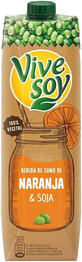 Vivesoy Bebida de Soja y Zumo de Naranja - 1 l: Amazon.es ...