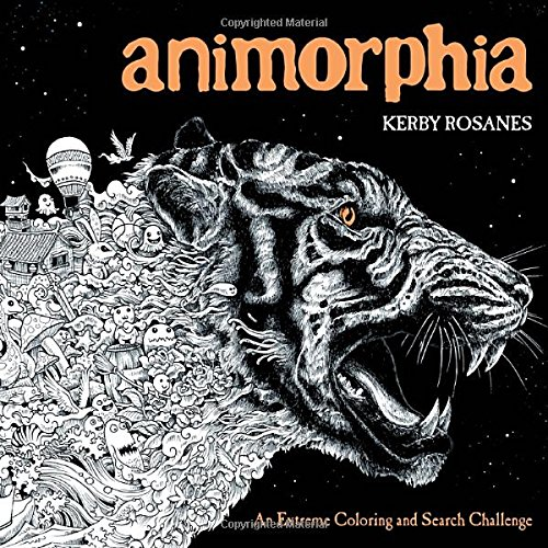 animorphia an extreme coloring and search challenge kerby rosanes 9780147518361 amazoncom books - Challenging Dragon Coloring Pages