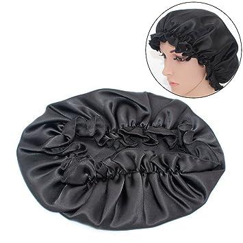 Mlmsy Seide Nacht Cap Natürliche Schlaf Cap Kopf Haar Abdeckung