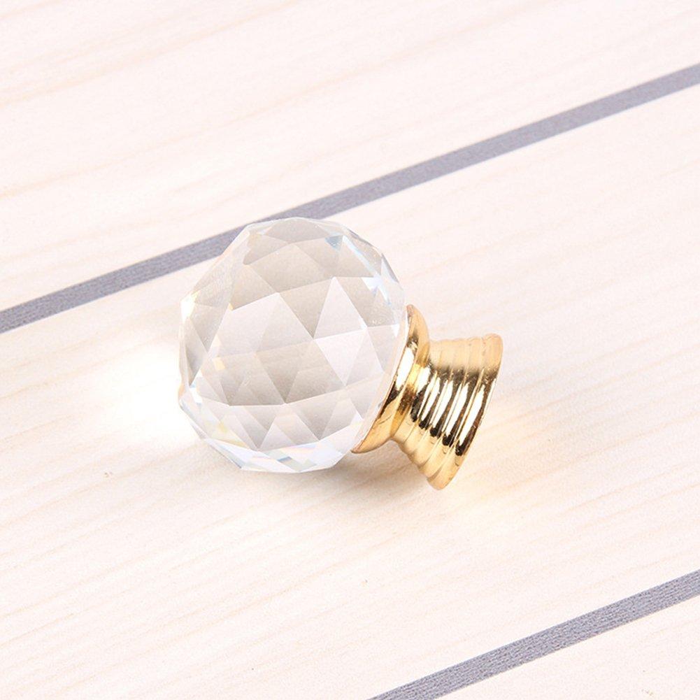 etbotu Simple bola de cristal pomos para puerta de oro de aleaci/ón de zinc Tirador para armario caj/ón armario armario puerta de la cocina