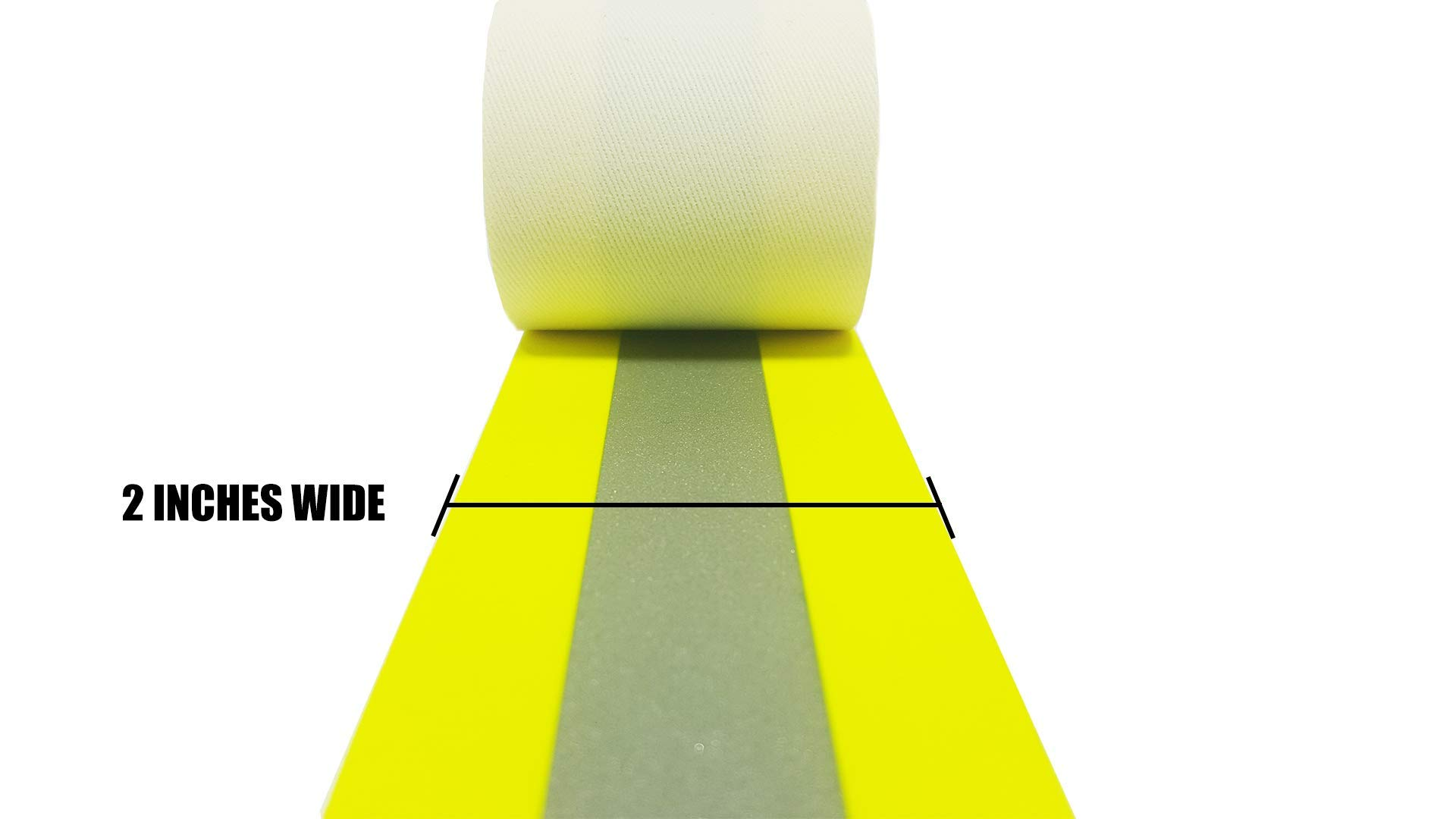 Reflective Fire Retardant Sew Tape High Visibility Firefighter Fluorescent (50M / 1970 inch, Yellow)