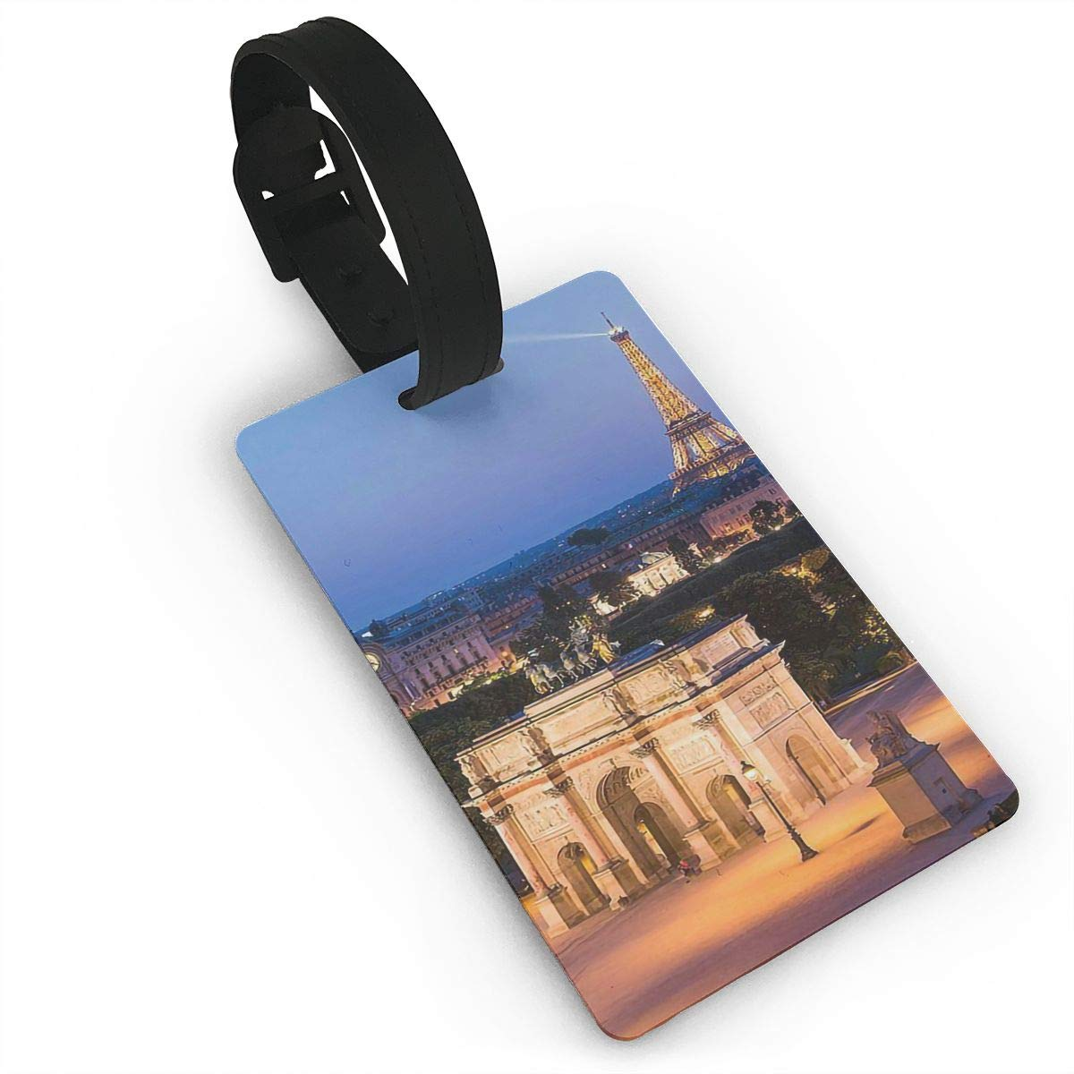 Arc De Triomphe Baggage Tag For Travel Bag Suitcase Accessories 2 Pack Luggage Tags