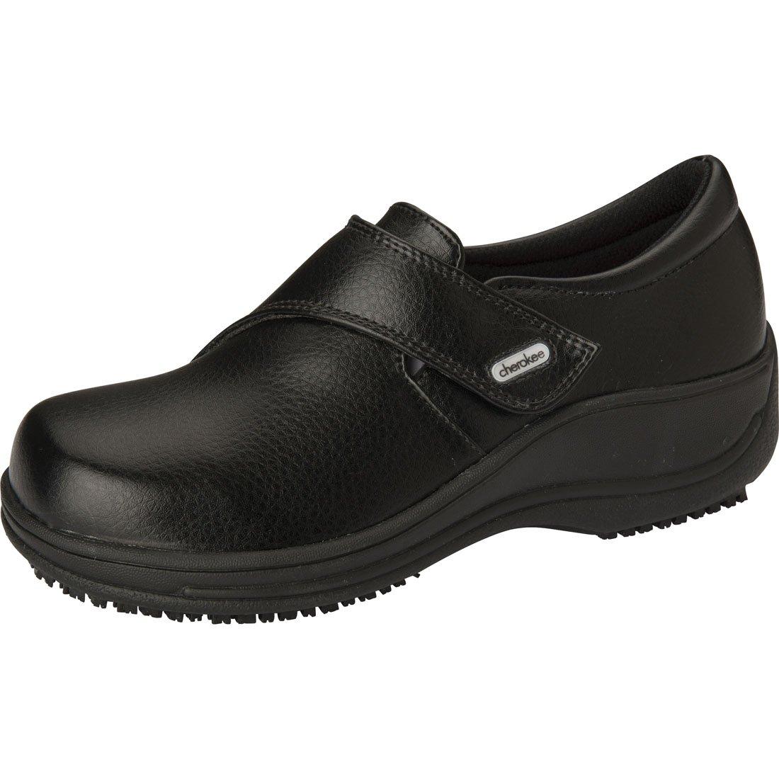 Footwear By Cherokee Women's Monk Strap Clog Black by Cherokee