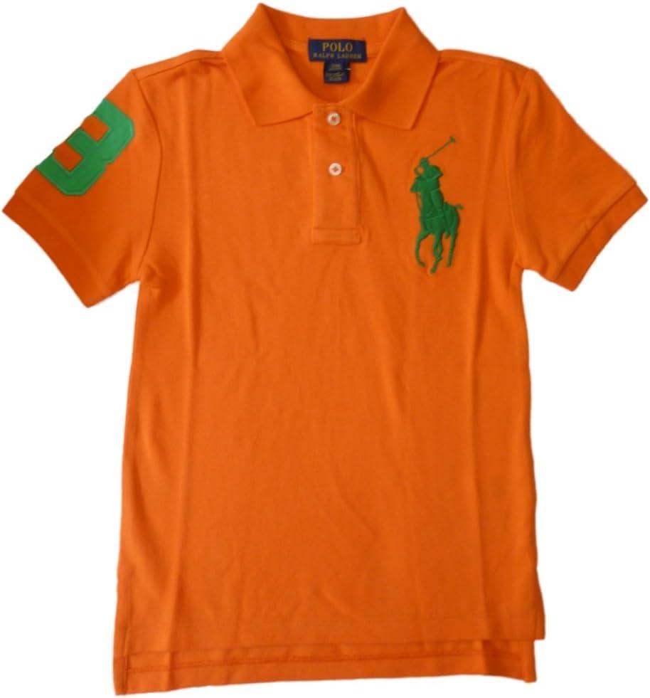 Ralph Lauren Niños Polo Camiseta de naranja verde Big Pony ...